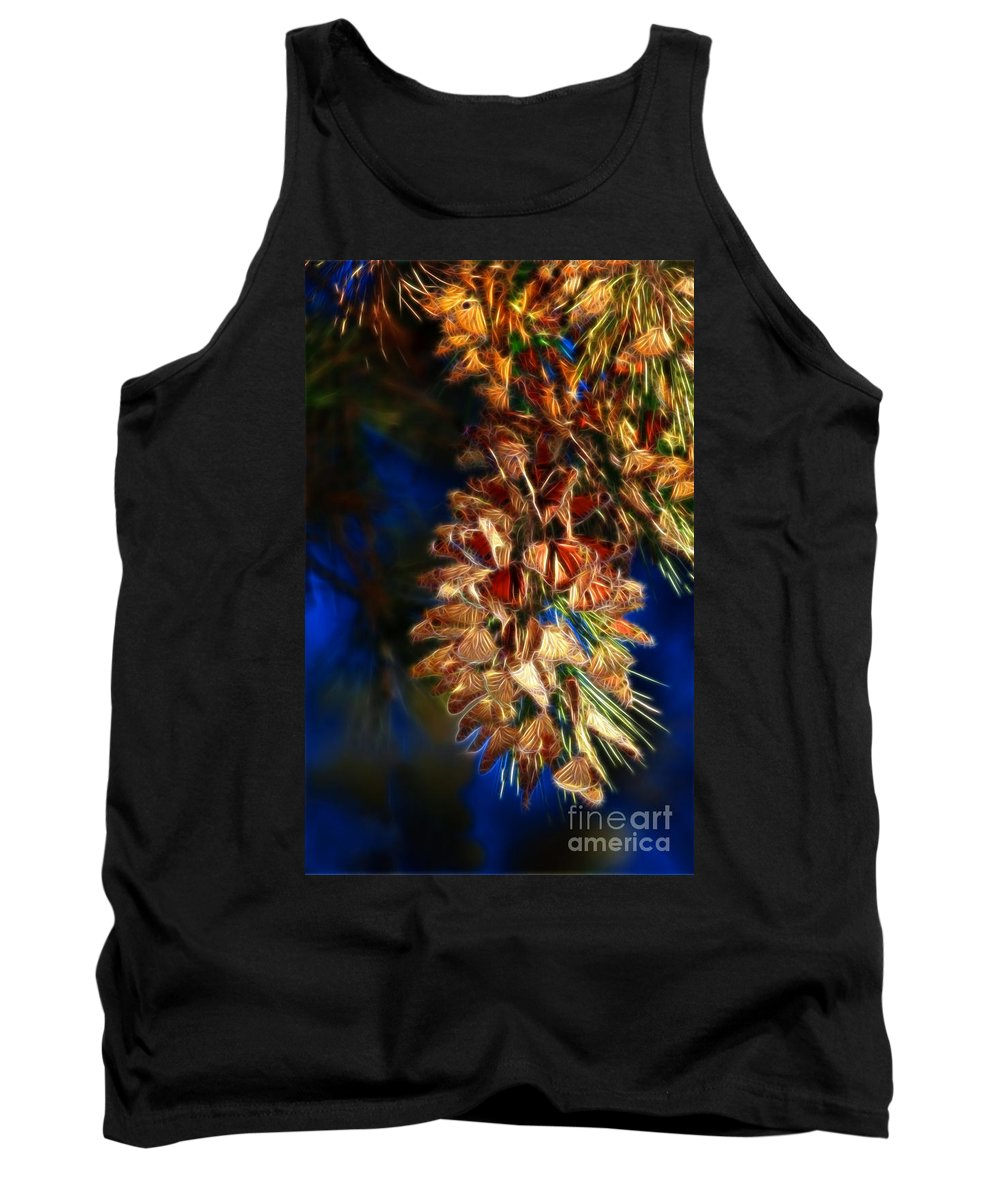 Abstract Tank Top featuring the photograph Butterfly Cluster Fractal by Beth Sargent