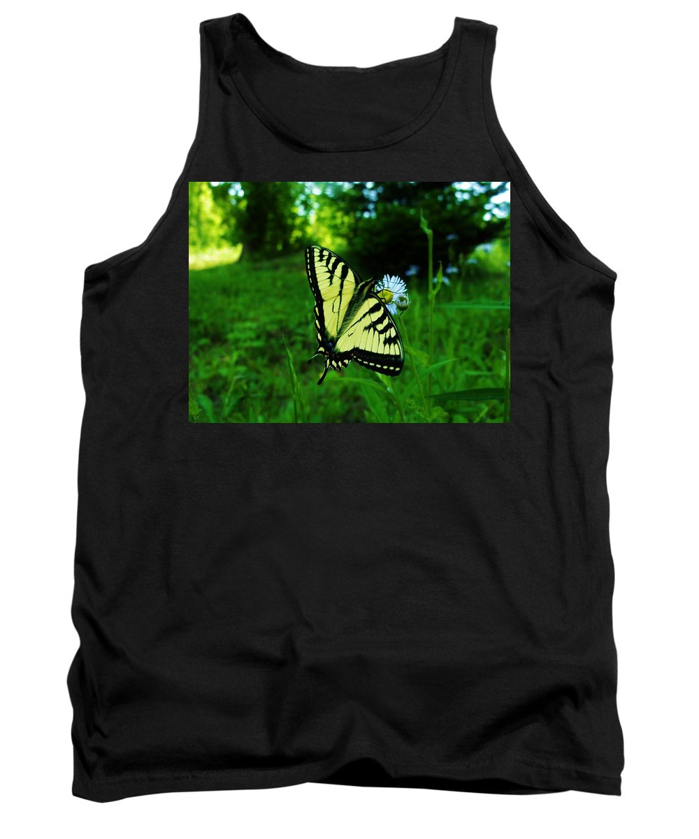 Butterfly Tank Top featuring the photograph Butterfly by Sherman Perry