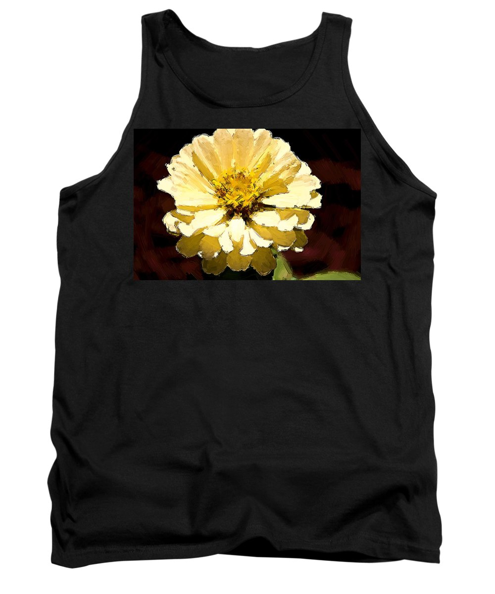 Flower Tank Top featuring the photograph Buttermilk Yellow by Alice Gipson