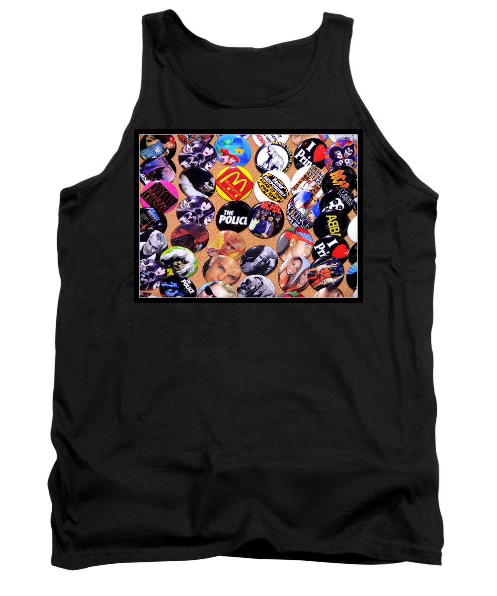 Sid Vicious Tank Top featuring the photograph Button Crazy by Kip Krause