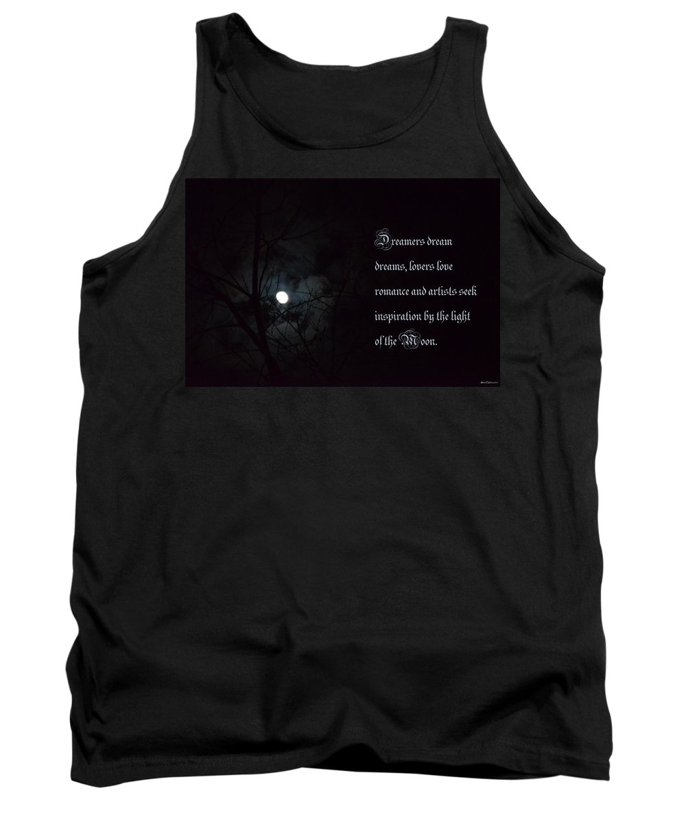 By The Light Of The Moon Tank Top featuring the photograph By The Light Of The Moon by Maria Urso