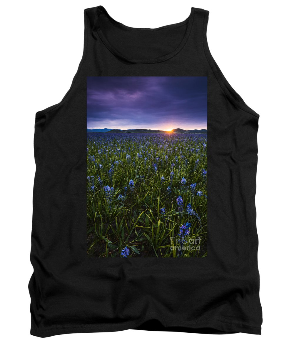 Landscape Tank Top featuring the photograph Camas Prairie Sunrise Idaho by Vishwanath Bhat