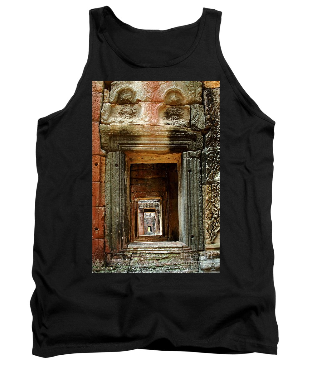 Travel Tank Top featuring the photograph Cambodia Angkor Wat 5 by Bob Christopher