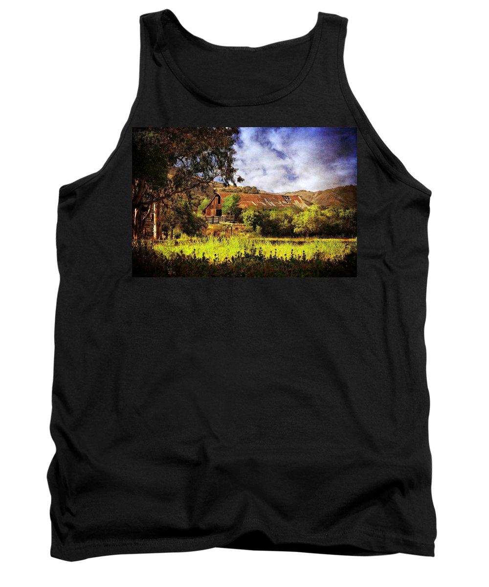 Ca Tank Top featuring the photograph Cambria Farmland by Lynn Bauer