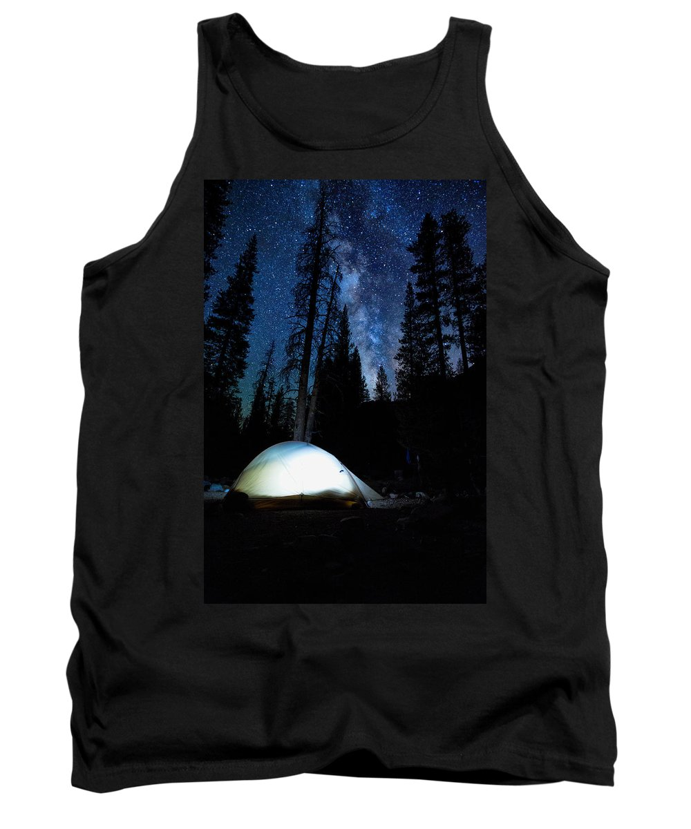 John Muir Trail Tank Top featuring the photograph Camping Under The Stars by Shauna Milton