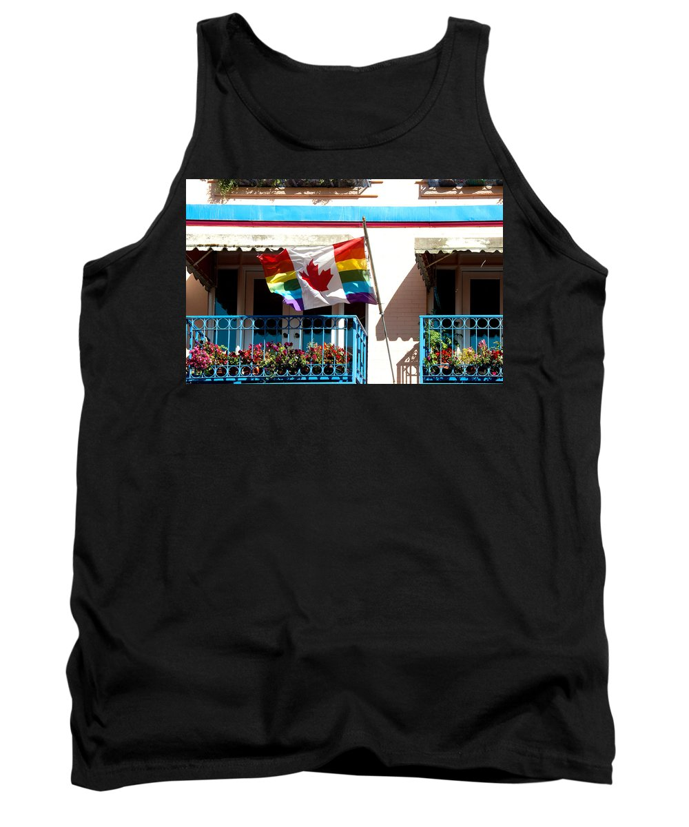 Canada Tank Top featuring the digital art Canadian Rainbow Flag by Carol Ailles