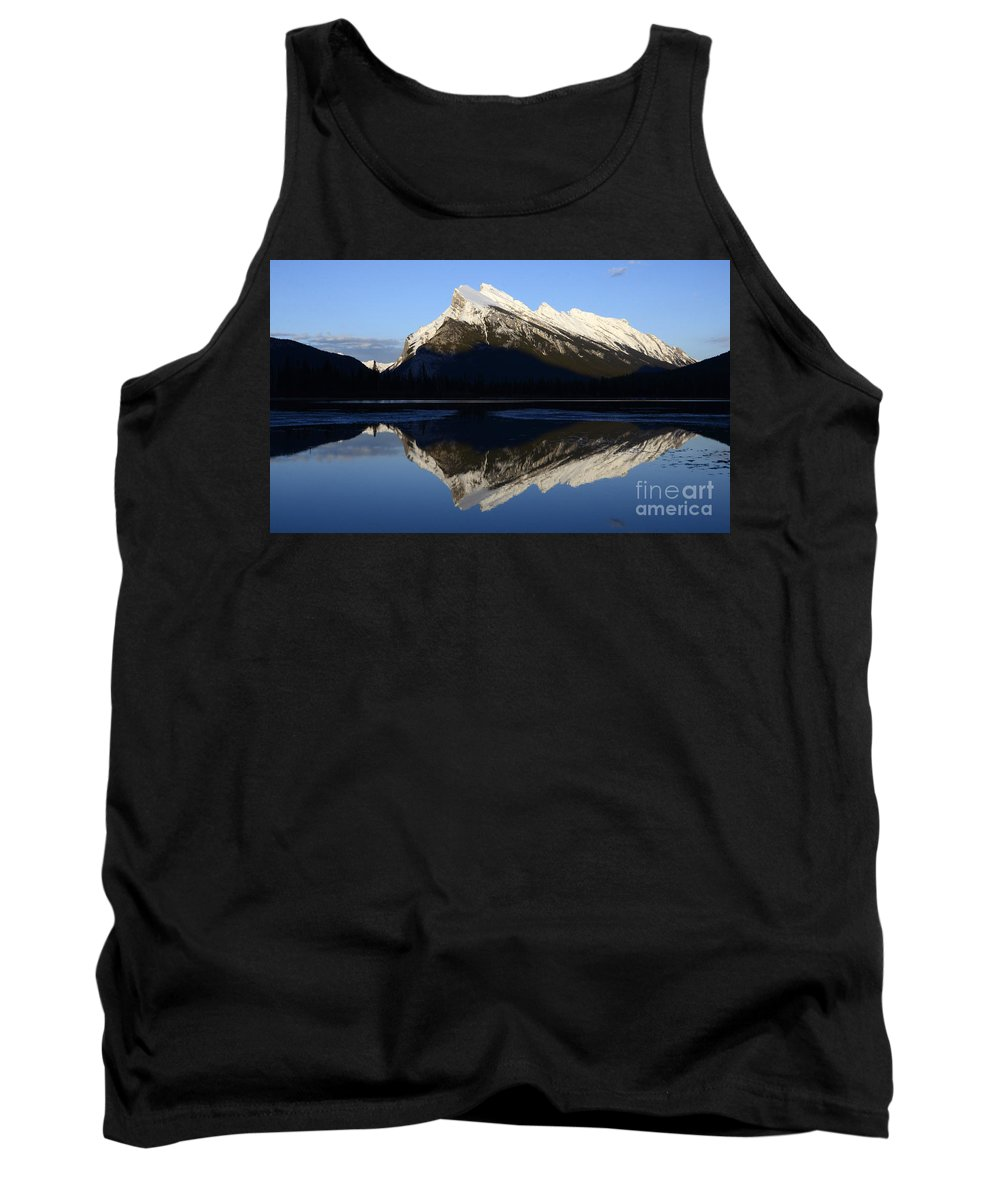 Mount Rundle Tank Top featuring the photograph Canadian Rockies Mount Rundle 1 by Bob Christopher