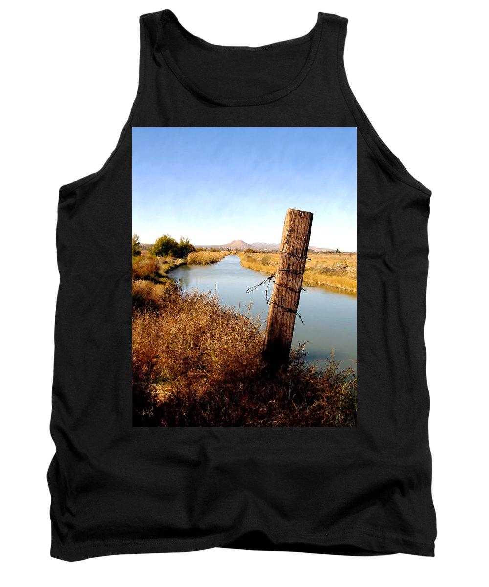 Mesilla Tank Top featuring the photograph Canal View Mesilla by Kurt Van Wagner