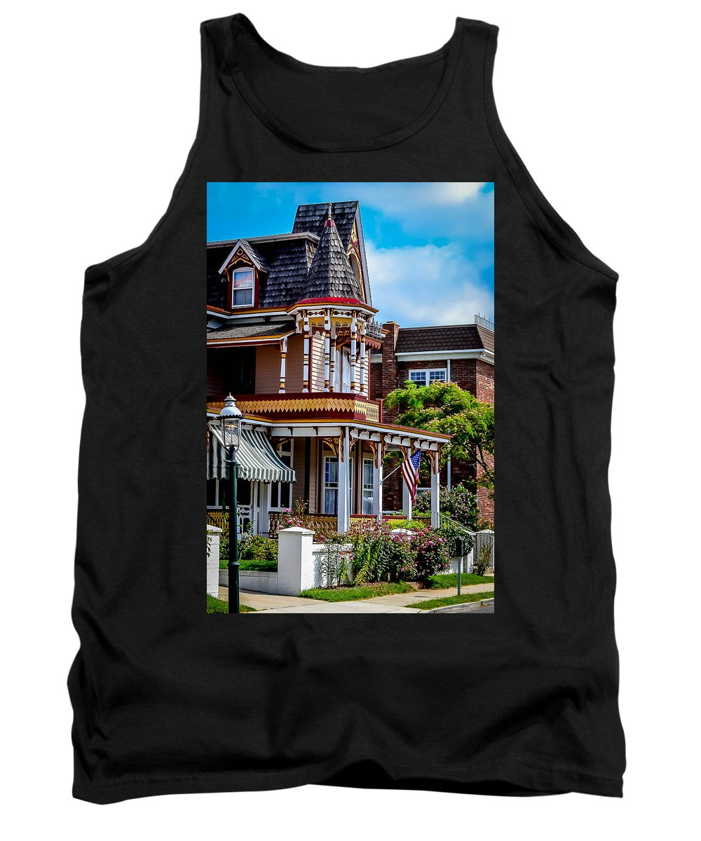 American Tank Top featuring the photograph Cape May Victorian by Michael Brooks