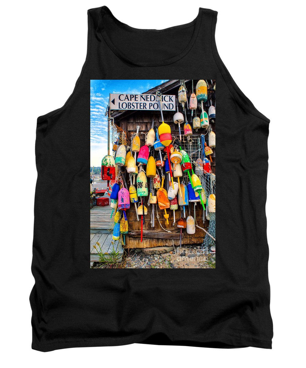 Cape Neddick Lobster Pound Tank Top featuring the photograph Cape Neddick Lobster Pound by Jerry Fornarotto