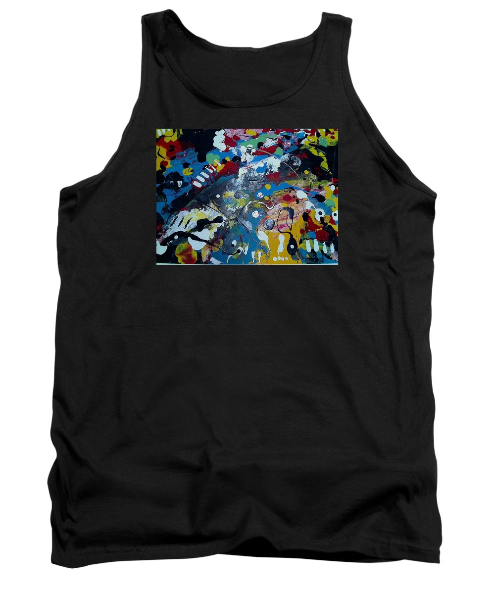 Abstract Tank Top featuring the painting Capillary Attraction by Mark Herman