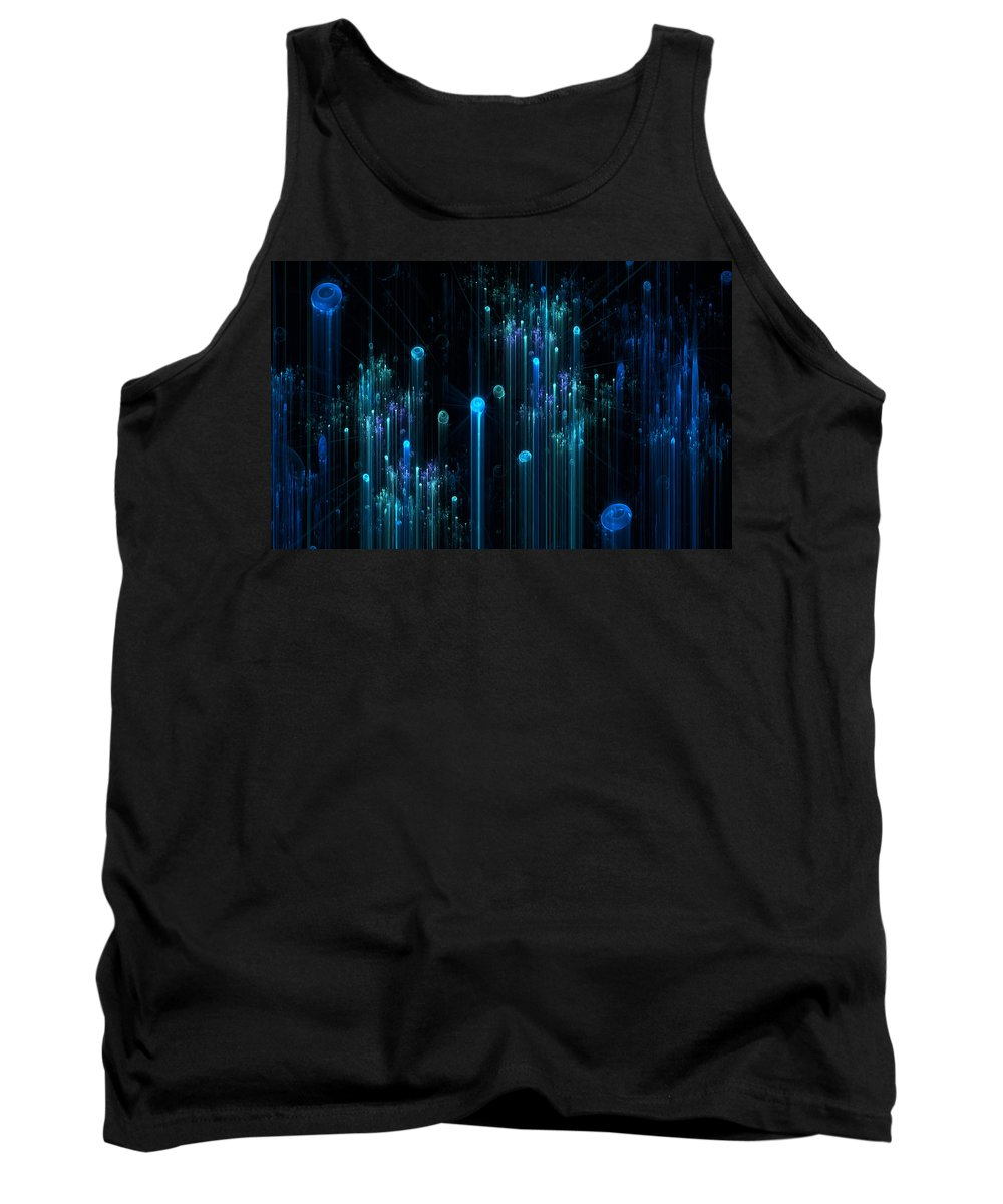 Fractal Tank Top featuring the digital art Carbonation by GJ Blackman