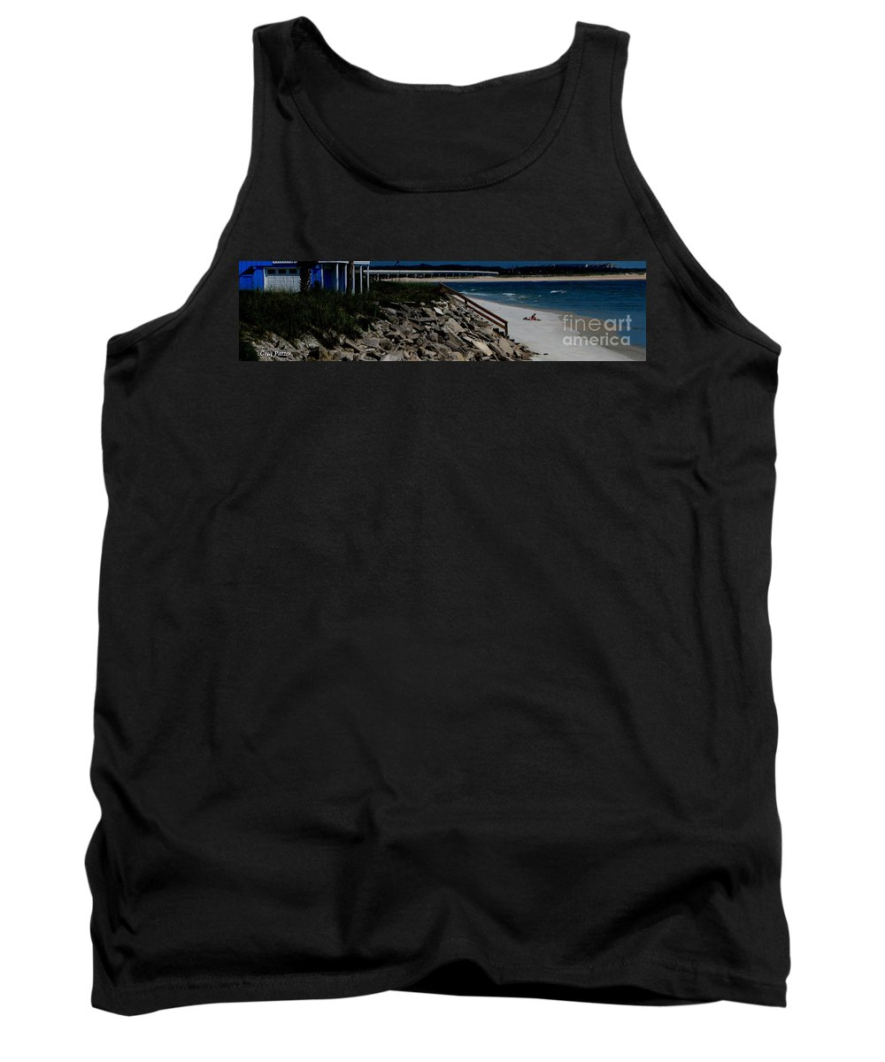 Beach Front Tank Top featuring the photograph Caribbean Colors by Greg Patzer