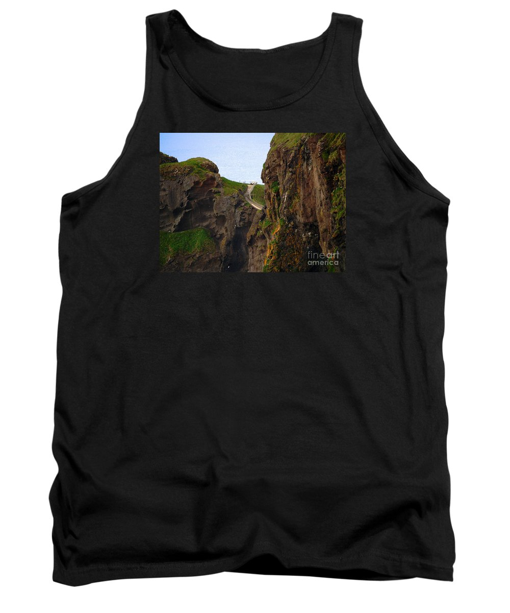 Carrick-a-rede Bridge Tank Top featuring the photograph Carrick-a-rede Bridge IIi by Patricia Griffin Brett