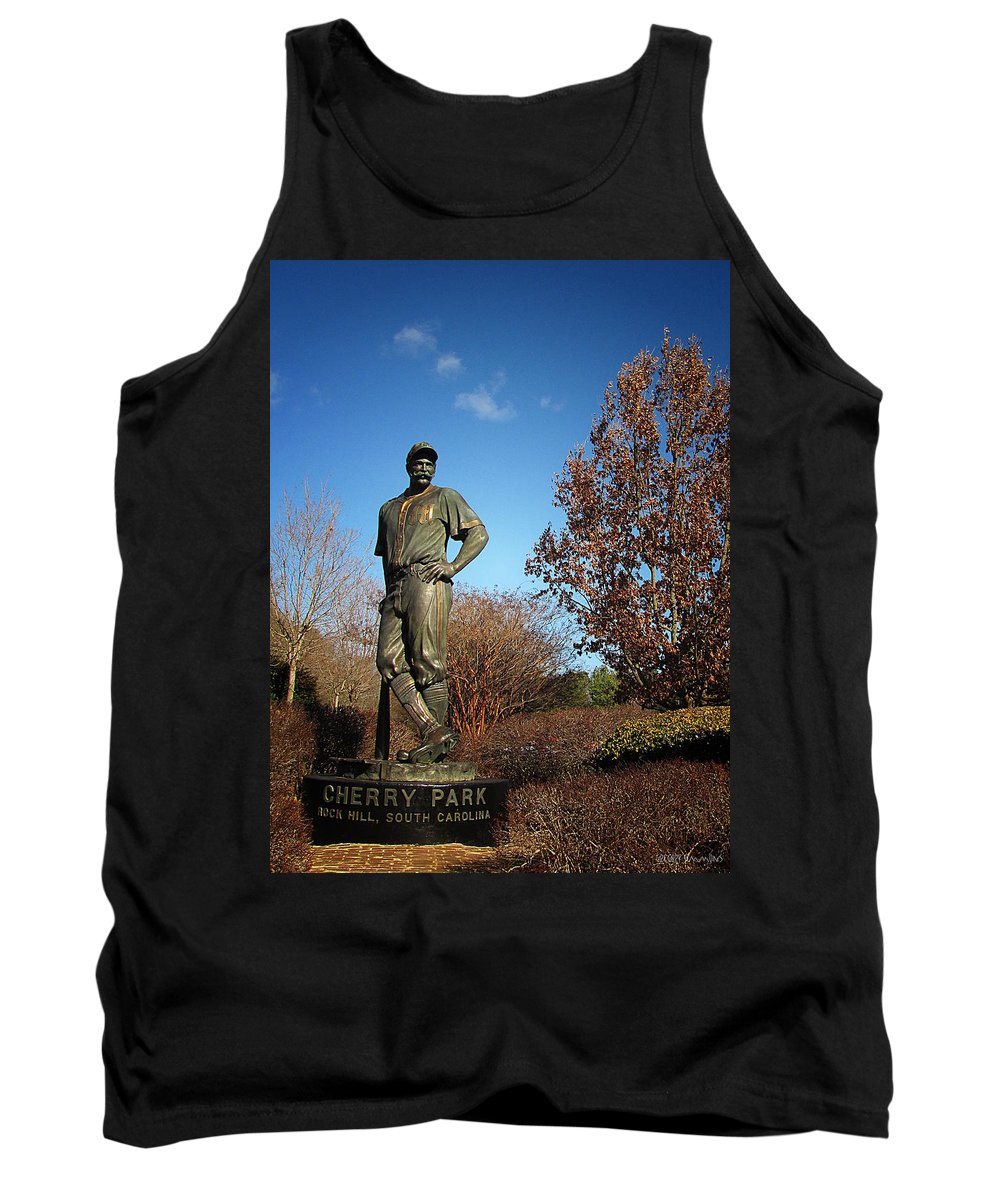 Baseball Tank Top featuring the photograph Casey Waits For Spring by Greg Simmons