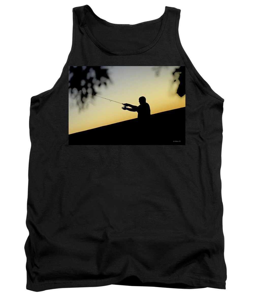 2d Tank Top featuring the photograph Casting Silhouette by Brian Wallace