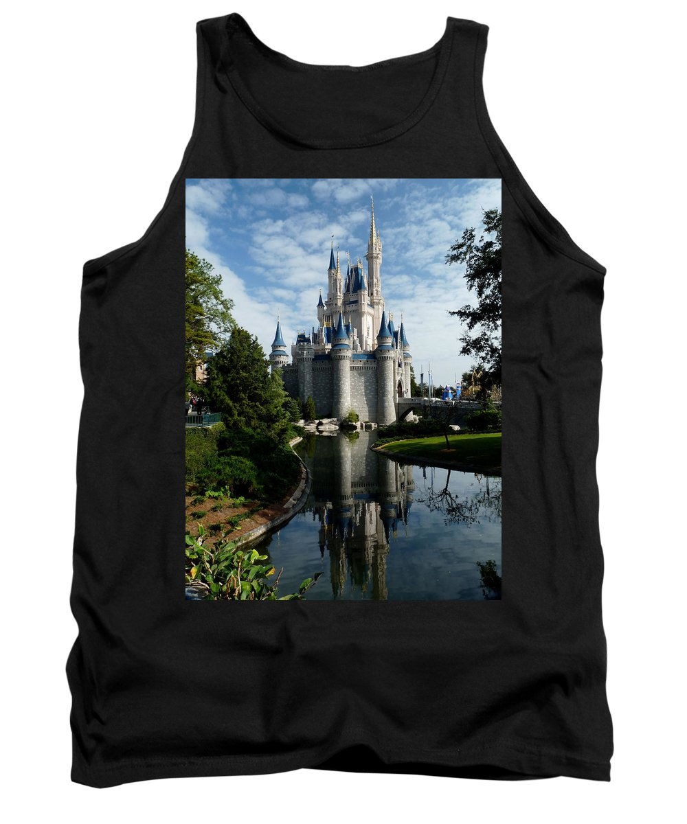 Cinderella Tank Top featuring the photograph Castle Reflections by Nora Martinez