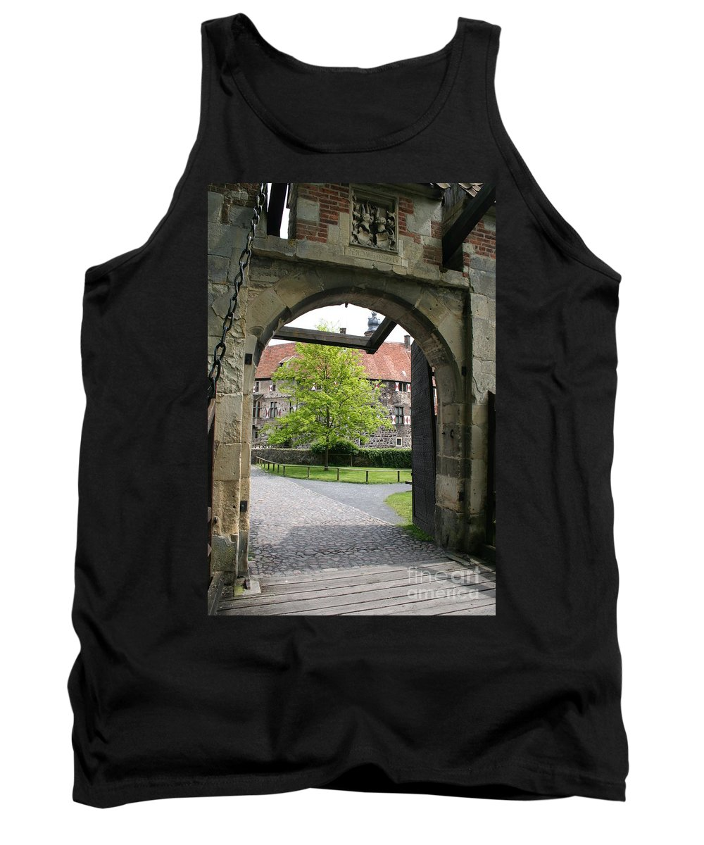 Entrance Tank Top featuring the photograph Castle Vischering Archway by Christiane Schulze Art And Photography