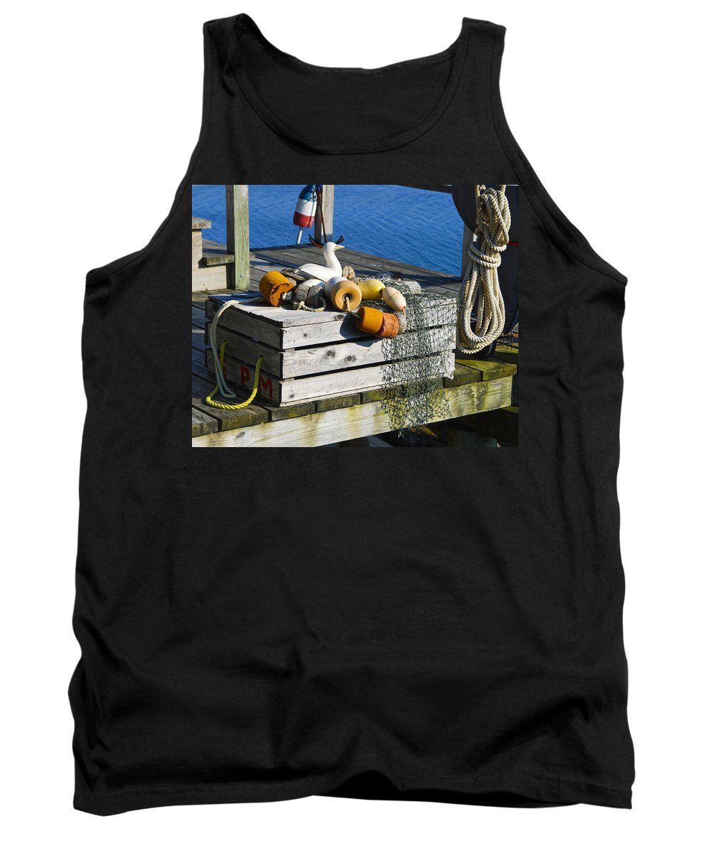 Nautical Photographs Tank Top featuring the photograph Casual Scene by Phyllis Taylor