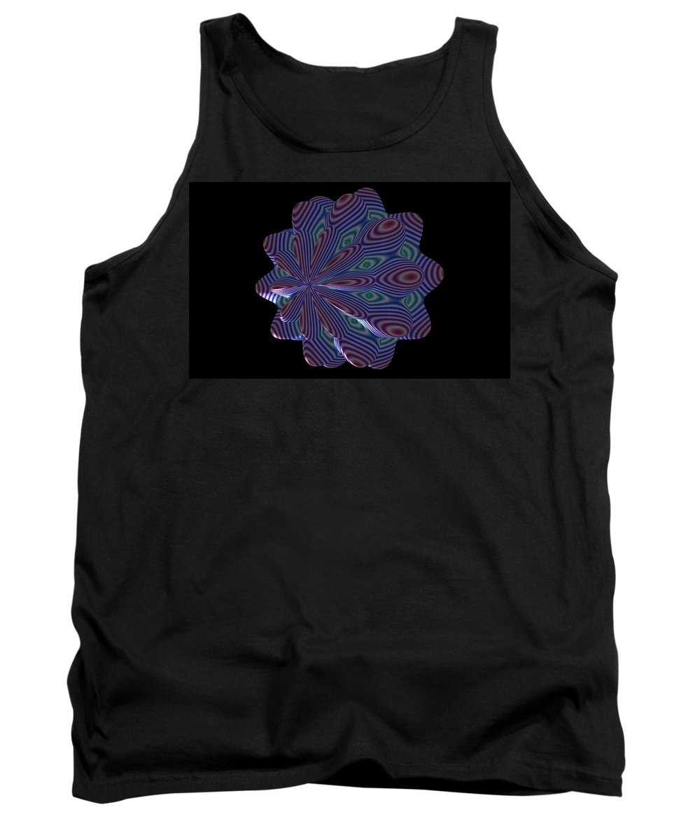 Fractal Tank Top featuring the painting Cat Toy by Bruce Nutting
