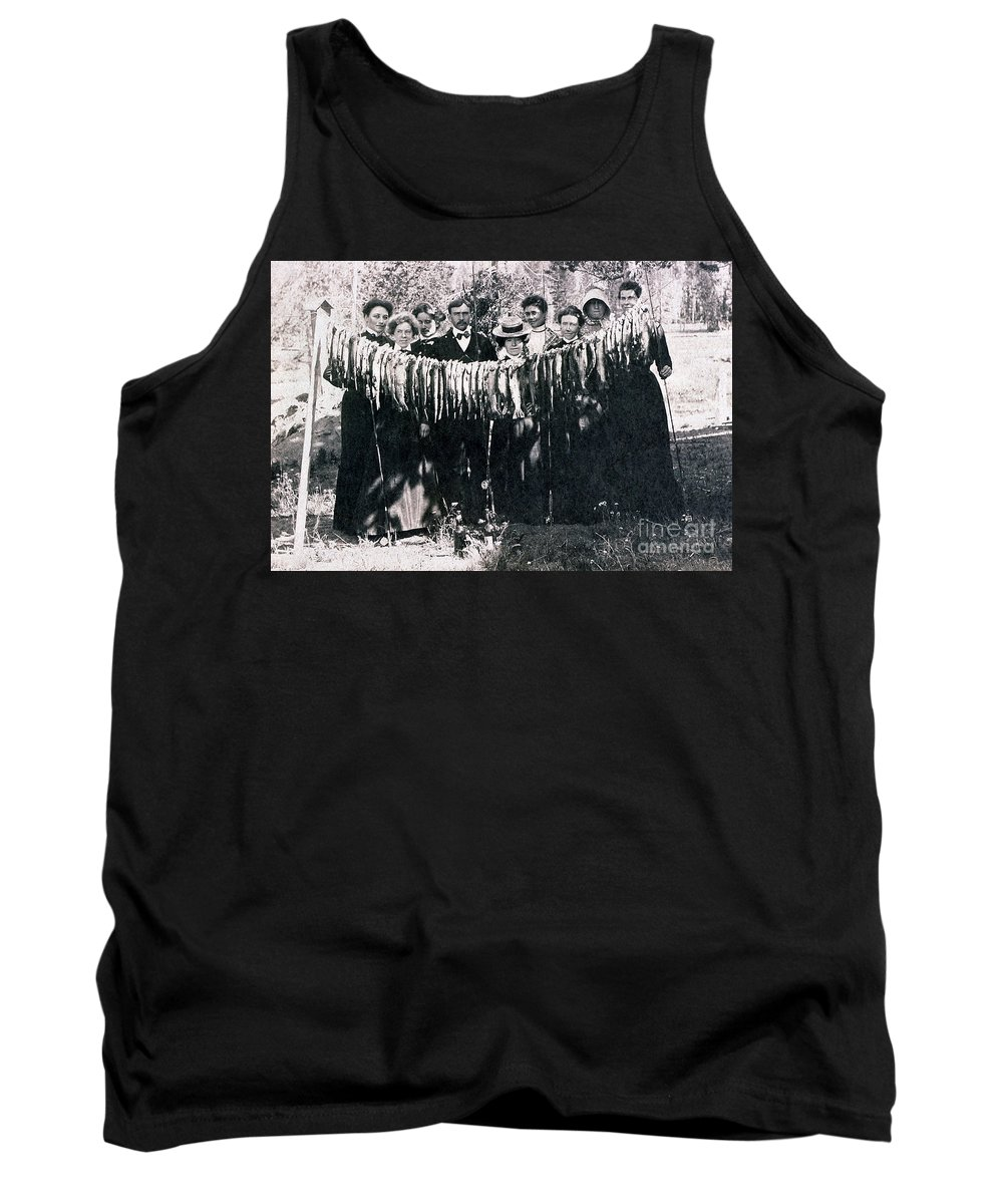 History Tank Top featuring the photograph Catch Of The Day 1901 by NPS Photo