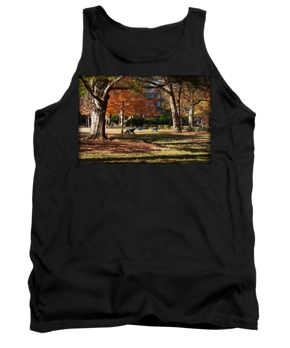 Art Tank Top featuring the photograph Catching Rays - Davidson College by Paulette B Wright