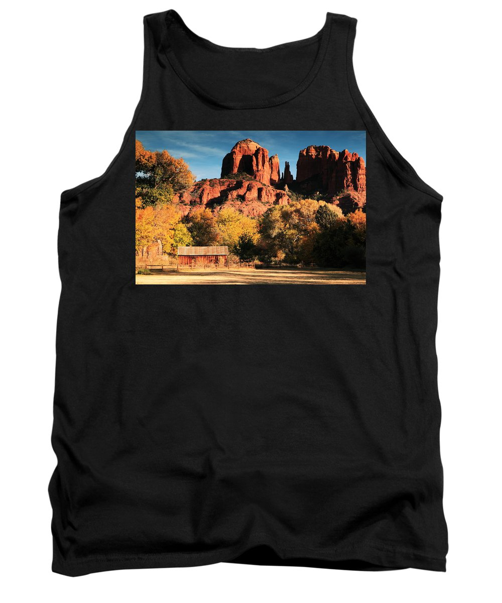 Cathedral Rock Tank Top featuring the photograph Cathedral Rock Sedona Arizona by Roupen Baker
