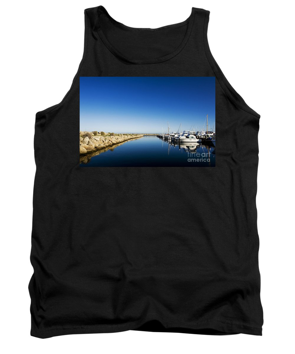 Australia Tank Top featuring the photograph Challenger Harbour Of Fremantle by Yew Kwang