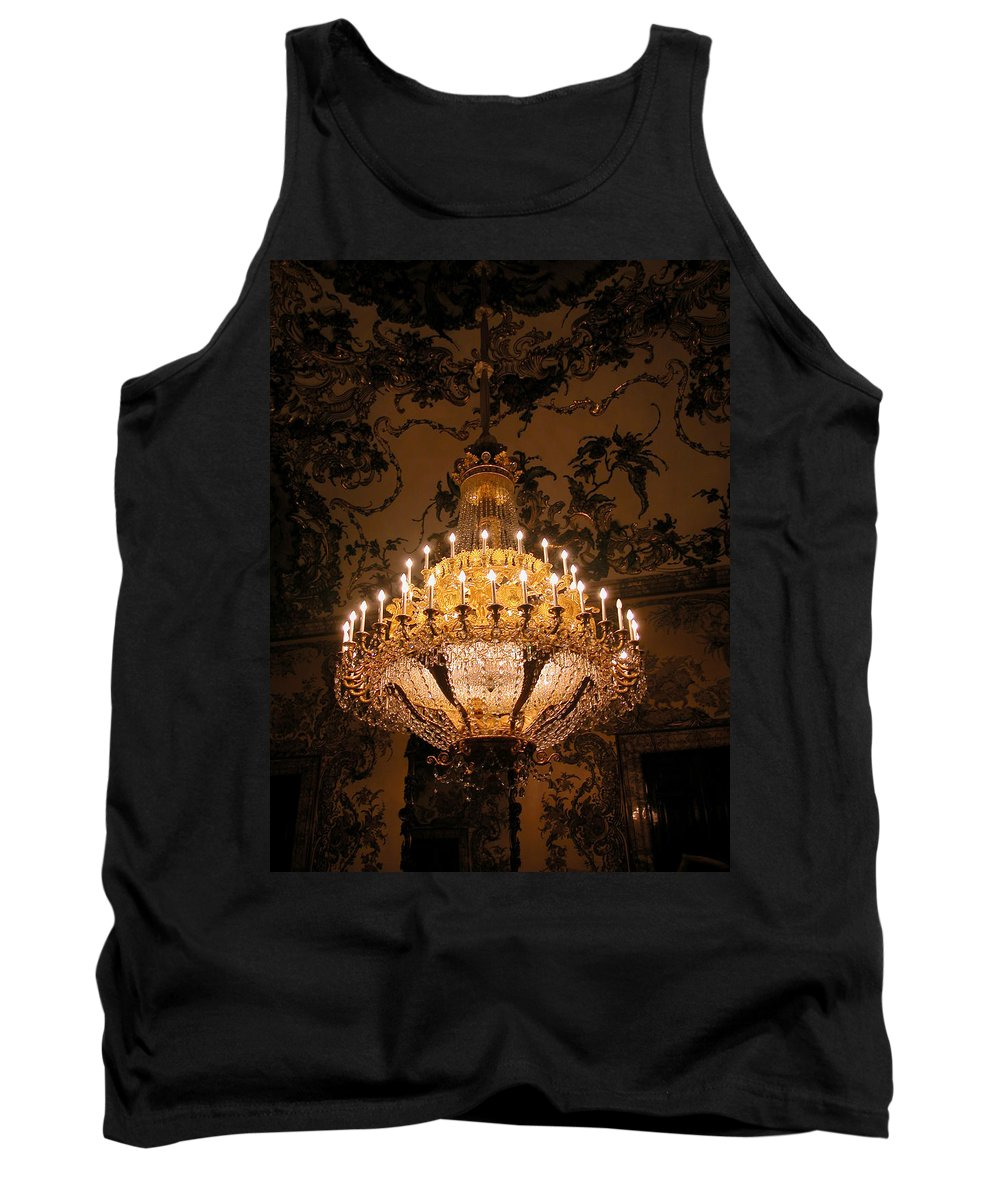 Madrid Tank Top featuring the photograph Chandelier Palacio Real by Michael Kirk