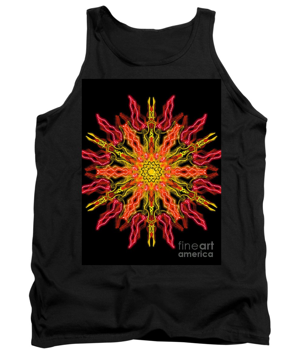 Tantras Tank Top featuring the digital art Chariot Of Sun by Uma Swaminathan