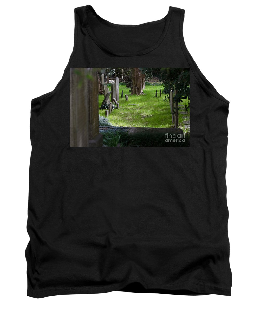 Graveyard Tank Top featuring the photograph Charleston Sc Graveyard by Dale Powell