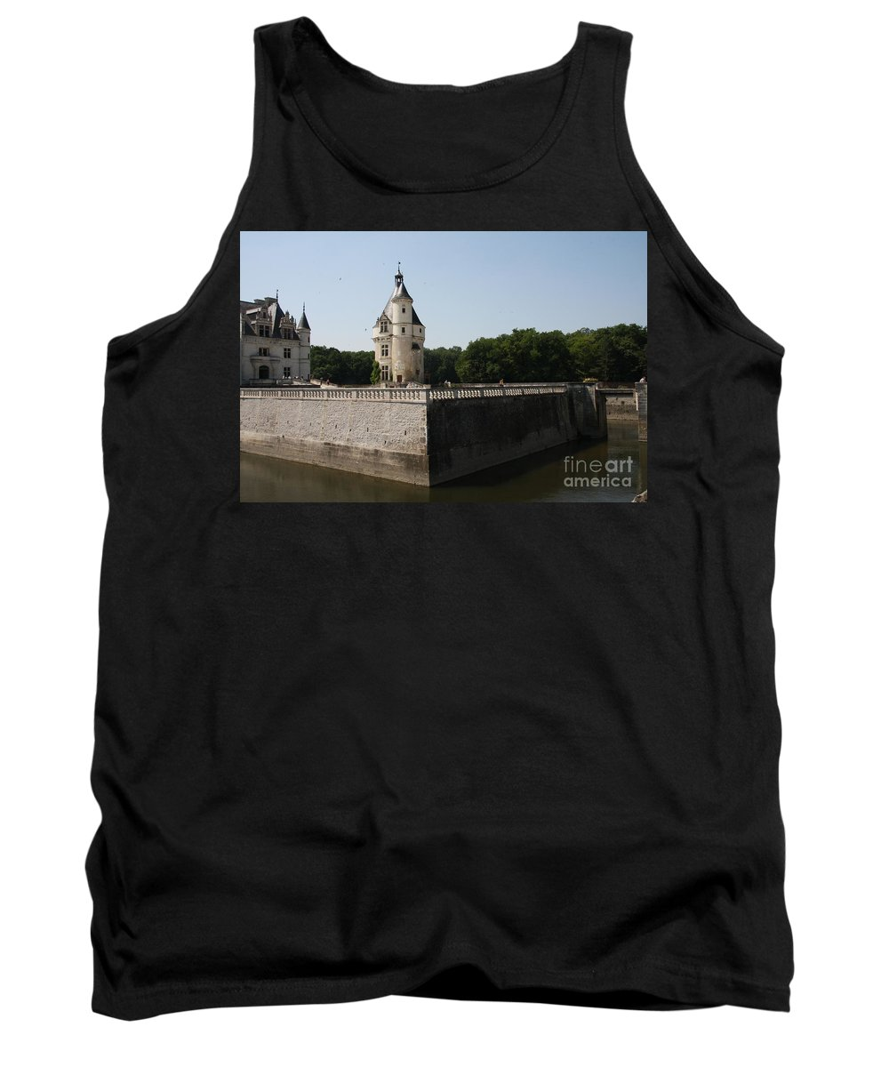 Castle Tank Top featuring the photograph Chateau And Moat Chenonceau by Christiane Schulze Art And Photography