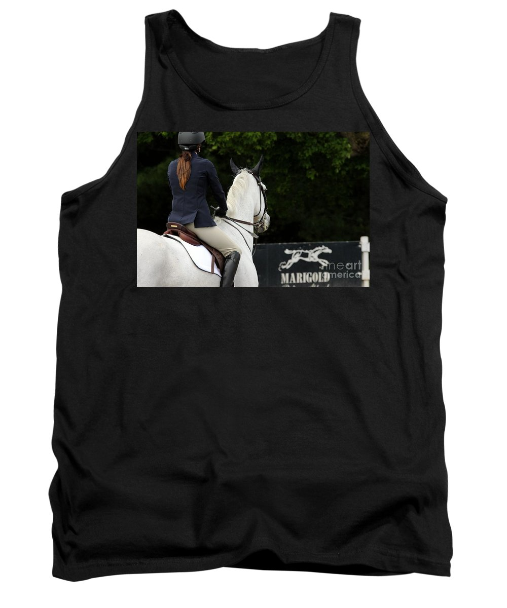 Horse Tank Top featuring the photograph Checking Out The Sign by Janice Byer