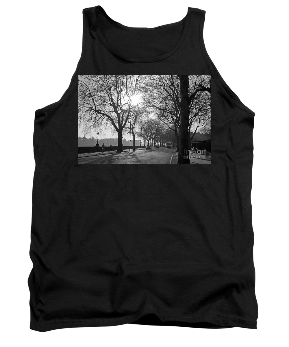 Chelsea Tank Top featuring the photograph Chelsea Embankment London 2 Uk by Julia Gavin