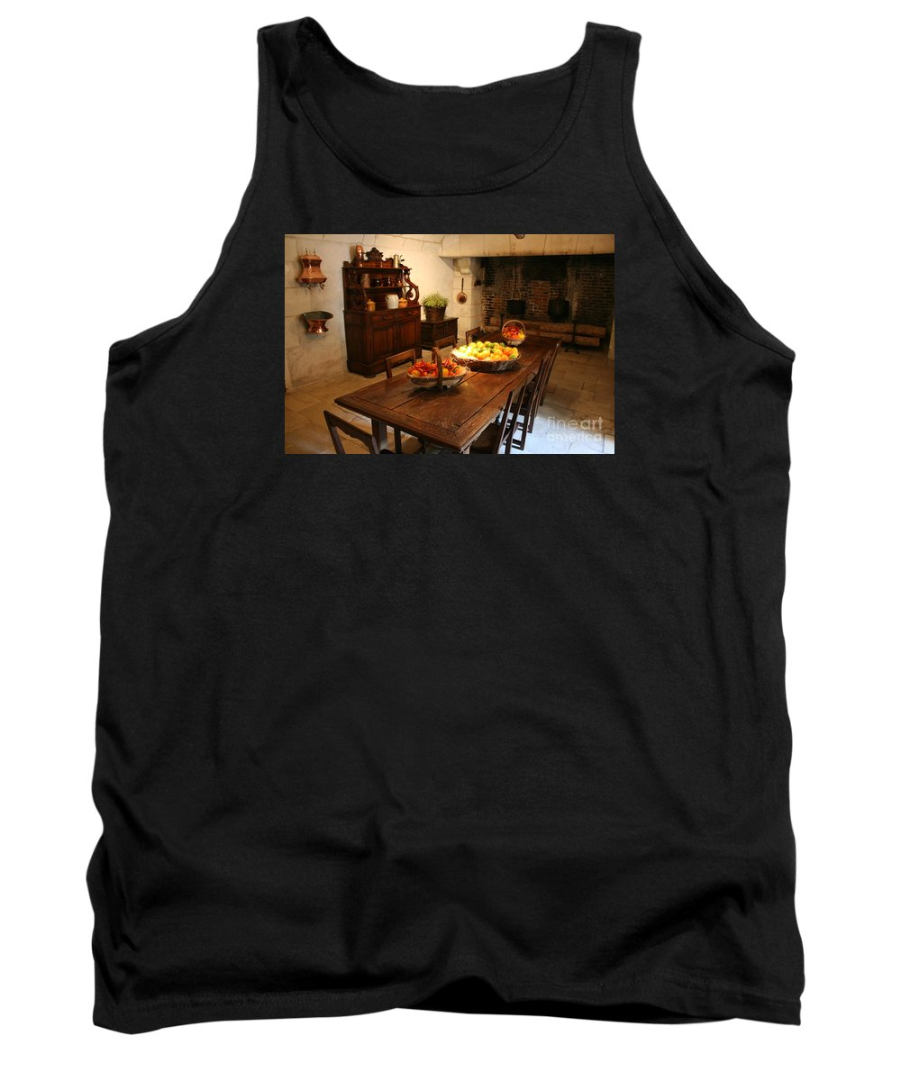 Kitchen Tank Top featuring the photograph Chenonceau Kitchen by Christiane Schulze Art And Photography