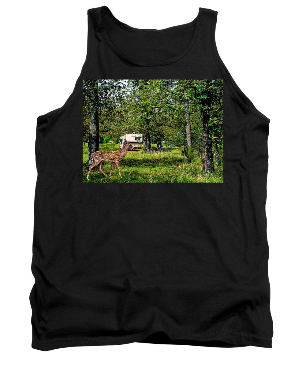 Accommodations Tank Top featuring the photograph Cherokee Lake Thousand Trails Preserve by Bob and Nadine Johnston