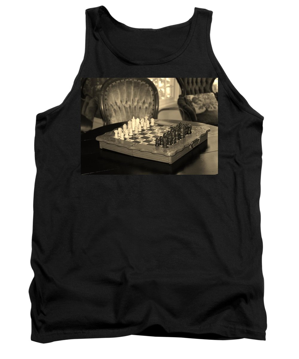 Games Tank Top featuring the photograph Chess Game by Cynthia Guinn