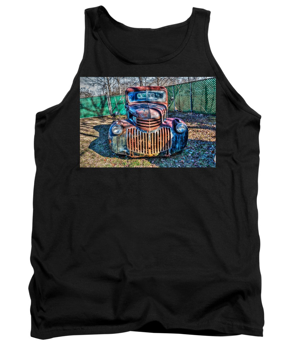 Antique Tank Top featuring the photograph Chevrolet Smile by Anthony Hughes