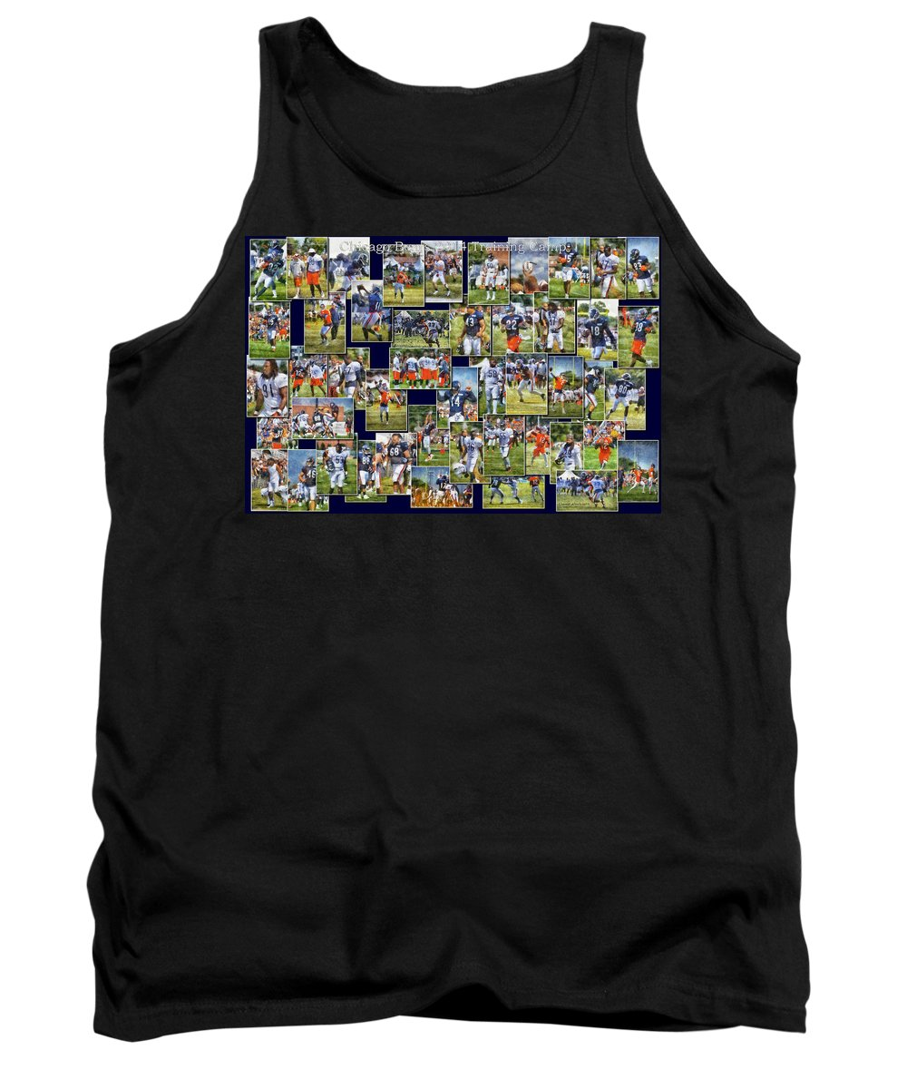 Chicago Bears Tank Top featuring the photograph Chicago Bears Training Camp 2014 Pa 02 by Thomas Woolworth