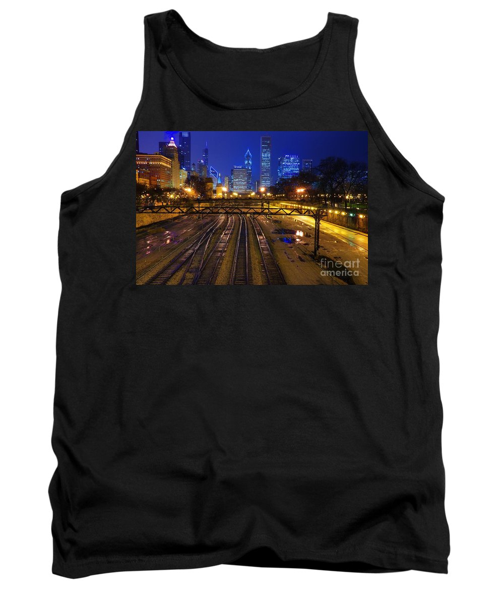 Chicago Tank Top featuring the photograph Chicago Skyline by Jonas Luis