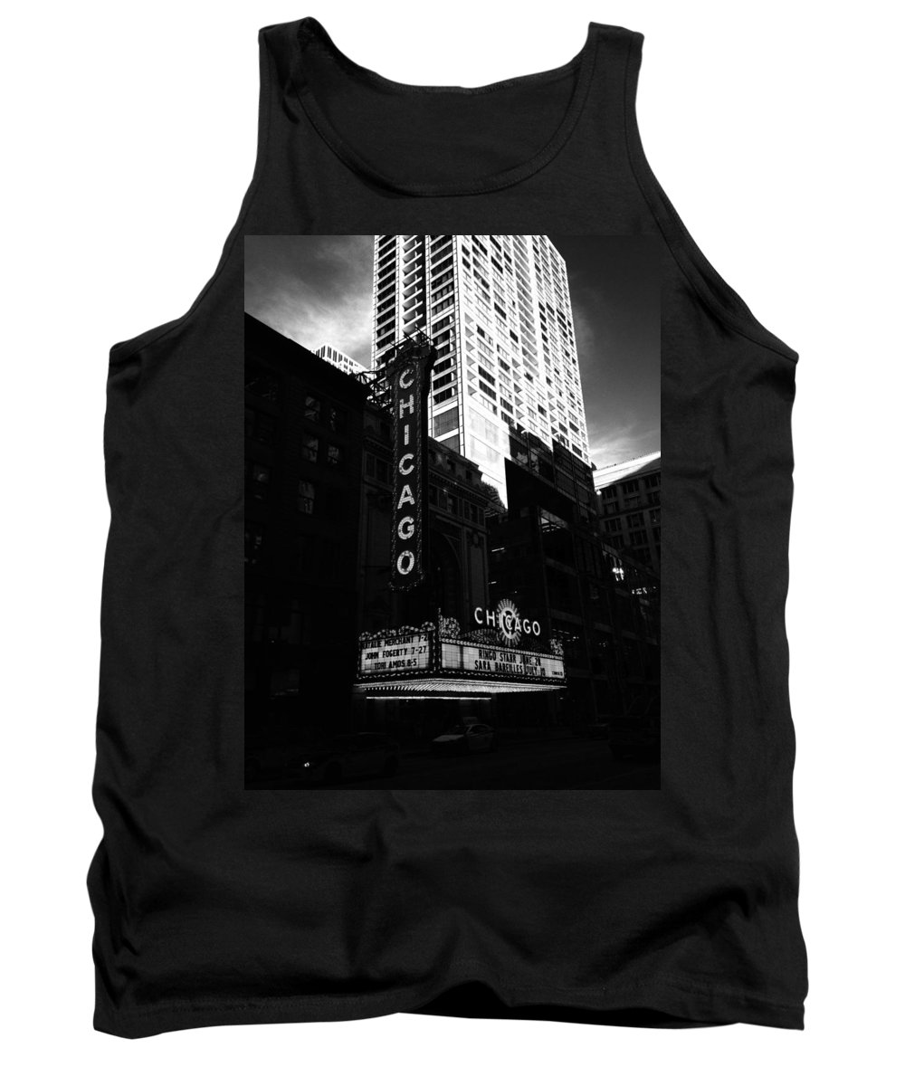 Tank Top featuring the photograph Chicago Theater by Sue Conwell