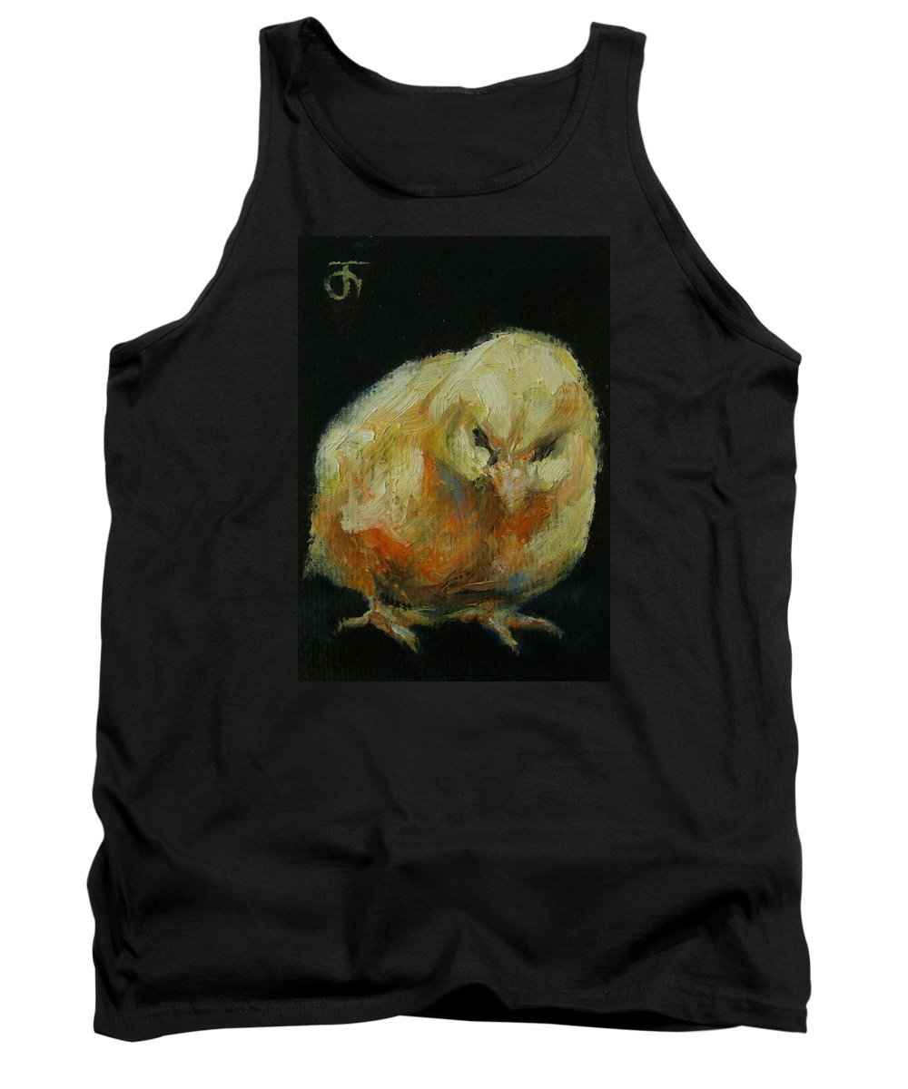 Original Painting & Creation Impressionism Tank Top featuring the painting Chick 02 by Jack No War