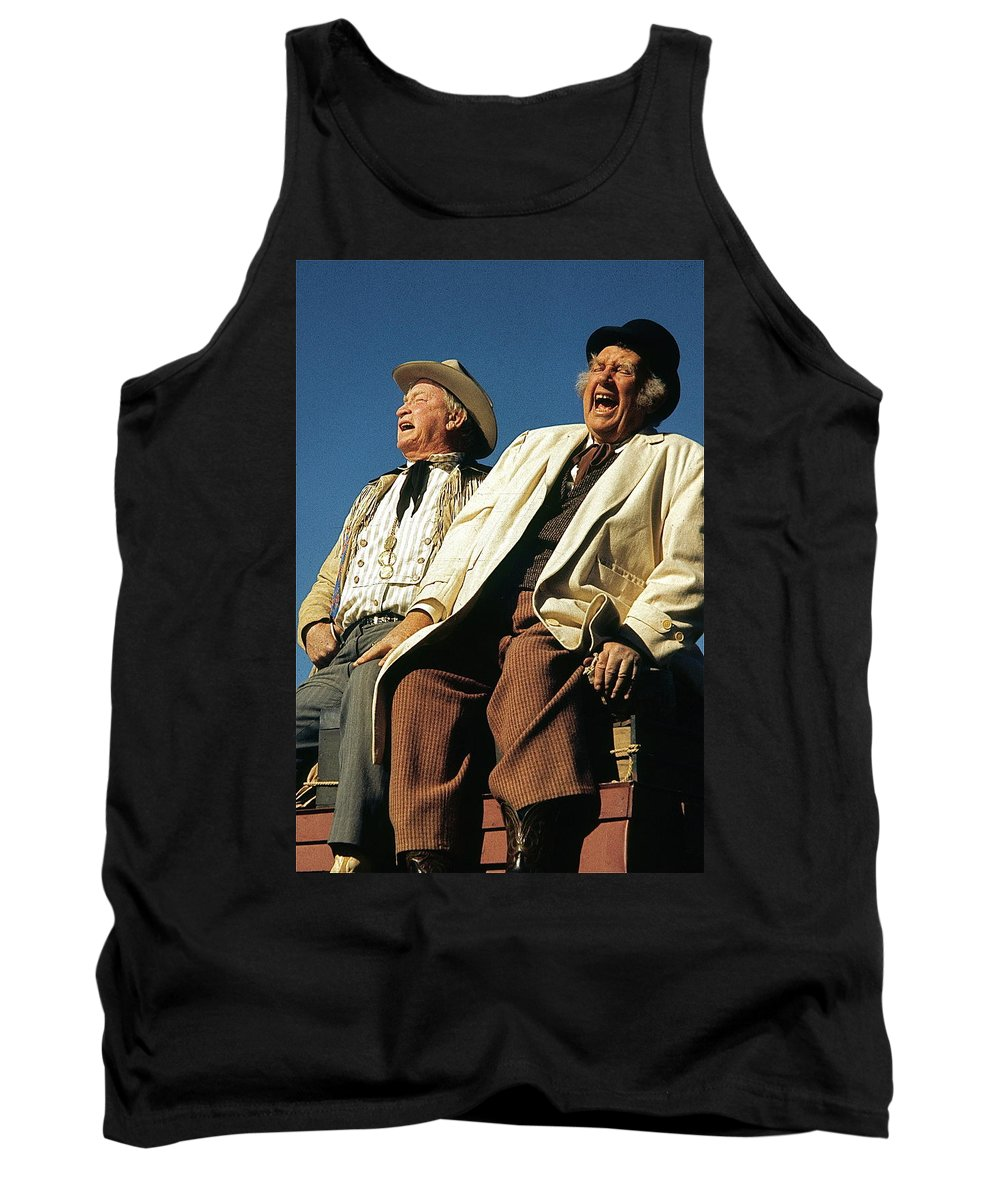 Chill Wills And Andy Devine Singing Atop A Stagecoach Old Tucson Arizona 1971 Tank Top featuring the photograph Chill Wills And Andy Devine Singing Atop A Stagecoach Old Tucson Arizona 1971 by David Lee Guss