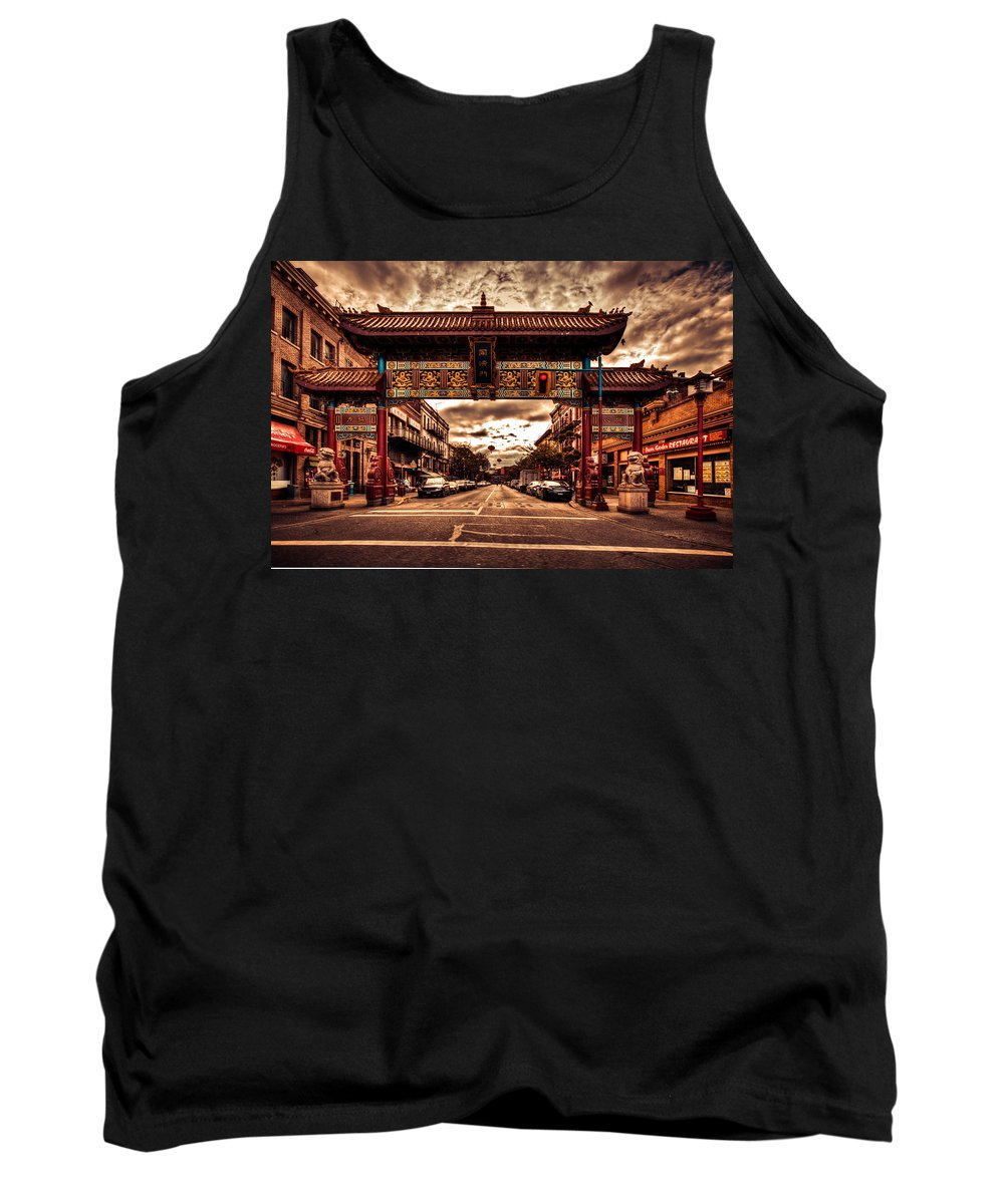 Tourist Tank Top featuring the photograph China Town Victoria by Eti Reid