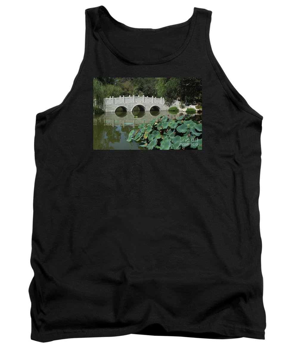 Huntington Library Tank Top featuring the photograph Chinese Garden Scene by Cheryl Hardt Art