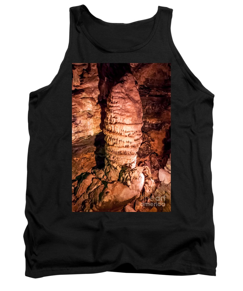 Howe Caverns Tank Top featuring the photograph Chinese Pagota Column by Anthony Sacco