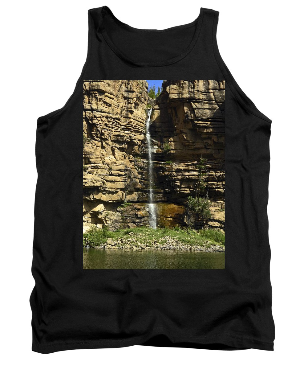 Chipetal Falls Tank Top featuring the photograph Chipetal Falls by Sally Weigand