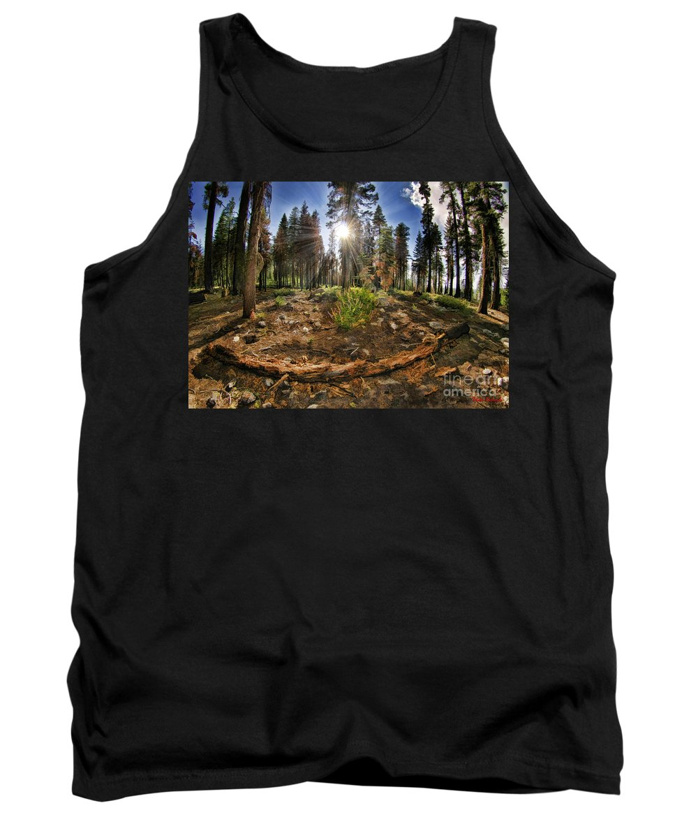 Tank Top featuring the photograph Chop Up Log by Blake Richards