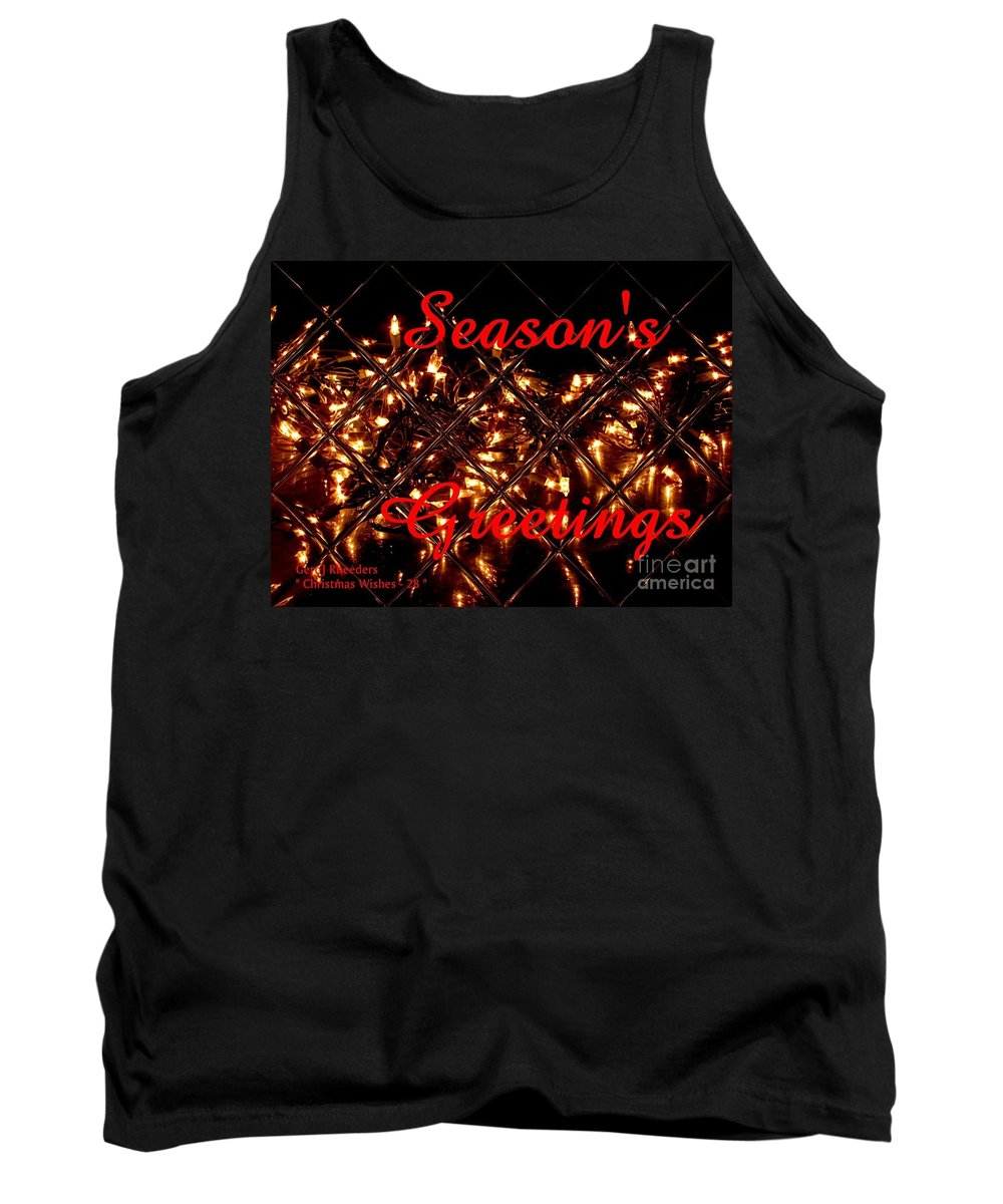 Modern Tank Top featuring the painting Christmas Cards And Artwork Christmas Wishes 28 by Gert J Rheeders