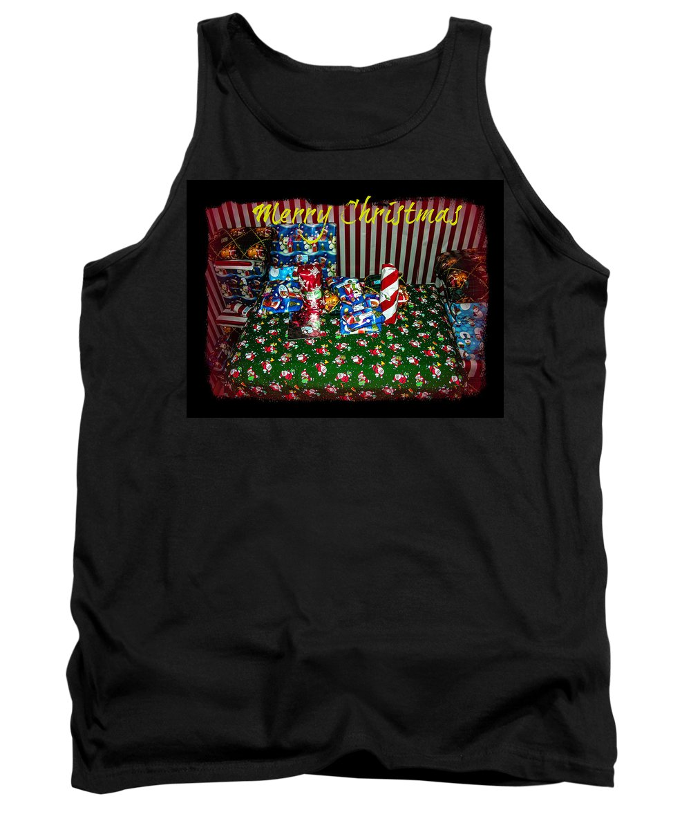 Christmas Tank Top featuring the photograph Christmas Gifts by Sherman Perry